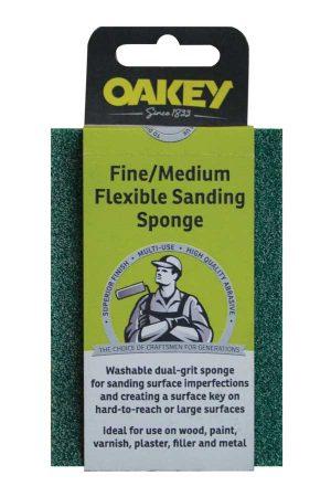 Oakey fine/medium sanding sponge